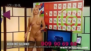 Blonde Czech slut Jenni naked on TV 01