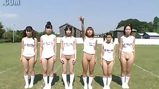 Bottomless Japanese Girls at Summer Camp