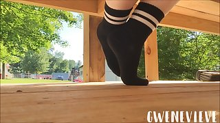 Black Crew Socks Tease