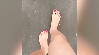 Jessica films what her teen feet does throughout the day.