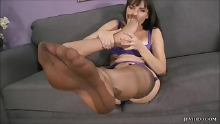 Pantyhose Nylon girls self foot worship compilation Part 2