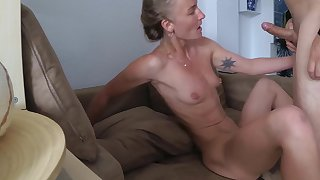 Sasha Bikeyeva - Very Hot fuck, Squirt and Cum Face