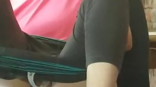 cumming while at work, very naughty, almost caught