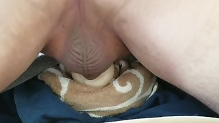 Failing to Cum in a Pocket Pussy While Balls Take Up the Screen