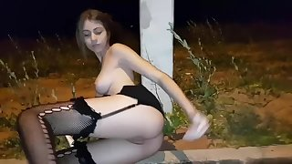 Doing Anal in front of my house at night!