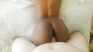 Hot young black chick riding my cock