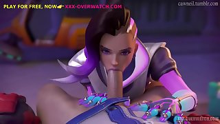 Deep throatfuck, overwatch xxx-parody