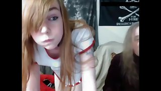 Gamer Girl in Old & Young Deepthroat Creampie Cam-show!