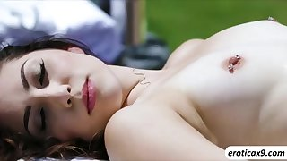 Latina babe Judy Love massage and fucks Chads bigcock