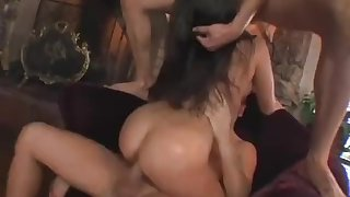 Up and coming star gets double fucked