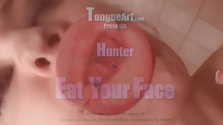 Long tongue hunter eat your face Fetish