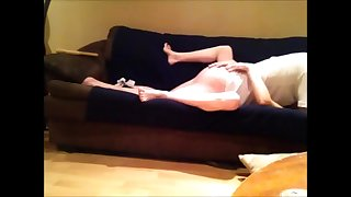 blonde babe gets missionary fuck to & after creampie from my big white cock