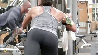 Sweaty Girl Working on her Glutes