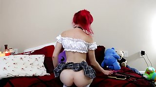 Naughty Schoolgirl Spanking Assignment for Daddy