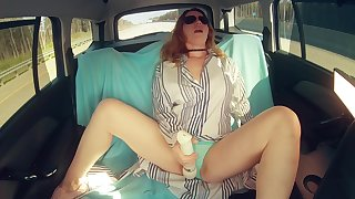 Ginger Beauty Masturbates Her Pussy Through Wet Panties to Screaming Orgasm