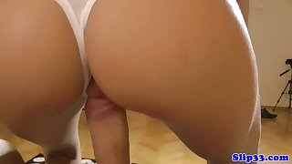 Euro amateur strips and rides oldmans cock