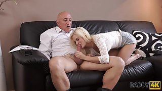 DADDY4K. Bad dad pleasuring his dick with a gf of his son