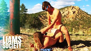 Real Couple Having Passionate Sex On A Scenic Mountain Top