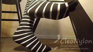 #57 striped stockings
