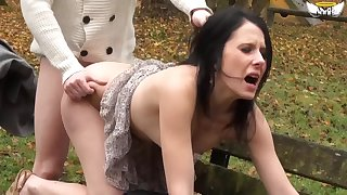 Teens fucked in the woods - Olivia
