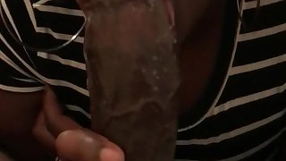 Dick in her throat made me cum and she swallows it all!!!