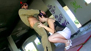 YOUNG CHUBBY BRUNETTE TEEN RIDE SOLIDERS HARD COCK