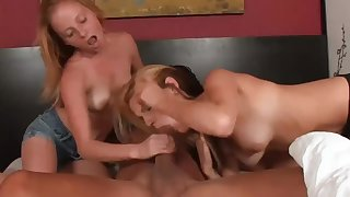 Alyssa Hart And Hope Harper Tag Team Lucky Cock