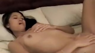 Jamming a sex toy deep in her wet pussy pleasure hole