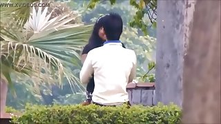 Indian Girlfriend fucking in Public Park by BF