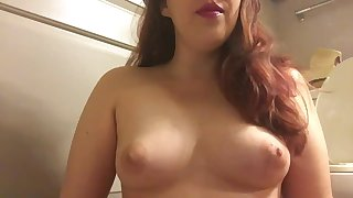 Topless Chubby Teen Smoking Goddess Cork Tip 100 Cigarette All Natural Tits