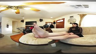 3D VR - Goddess Destiny Attempted Foot Worship - 4K ULTRA HD