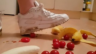 Princess Lily Grace Crushes Food in Nike Air Max 90s