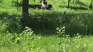 Public Park Couple Rubbing - touching - licking - Voyeur