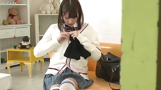 Japan Cute Girl help Brother Masturbation