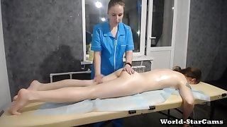 Russian Teen gets massaged & tortured with vibrator