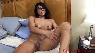 Sexy Latina Teen Rubs Lotion All Over Her Body