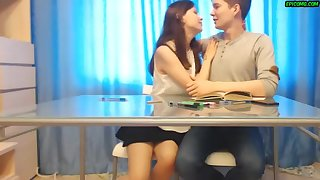 Busty Teen Kelly with Boyfriend Role Playing – Facial