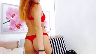 Sexy Redheand with Red Undies - Stunning cutie Fisting No 1 High Def